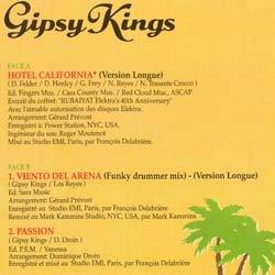 """画像2: GIPSY KINGS / ホテル・カリフォルニア (仏原盤/全3曲) [◎中古レア盤◎貴重な超美品!フランス版ジャケ!B面""""FUNKY DRUMMER MIX""""!]"""