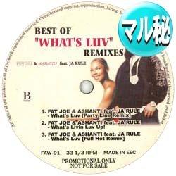 画像1: FAT JOE & ASHANTI / WHAT'S LUV (マル秘MIX) [■廃盤■超希少音源!幻のマル秘MIX!]