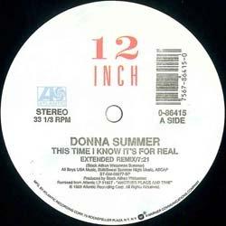 """画像2: DONNA SUMMER / THIS TIME I KNOW IT'S FOR REAL (米原盤/12""""MIX) [◎中古レア盤◎コレは原盤!US別ジャケ!特大ヒット!]"""