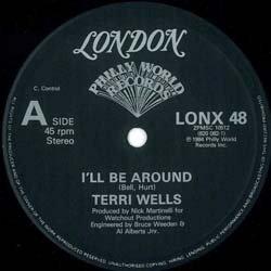 """画像3: TERRI WELLS / I'LL BE AROUND (英原盤/12""""MIX) [◎中古レア盤◎お宝!希少ジャケ付!極上女性VOカバー!インスト入り版!]"""