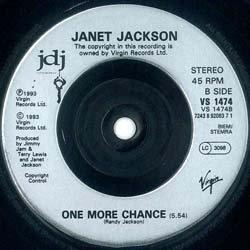 画像4: JANET JACKSON / IF & ONE MORE CHANCE (7インチ) [◎中古レア盤◎お宝ジャケ!希少7インチのみの音源!]