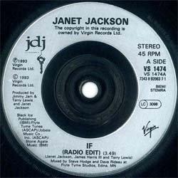 画像5: JANET JACKSON / IF & ONE MORE CHANCE (7インチ) [◎中古レア盤◎お宝ジャケ!希少7インチのみの音源!]