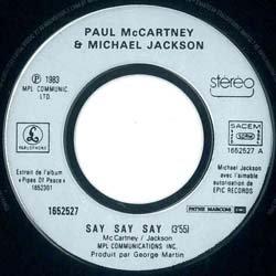 画像4: MICHAEL JACKSON & ポール / SAY SAY SAY (7インチMIX) [◎中古レア盤◎超希少!フランス盤ジャケ!7インチMIX!]