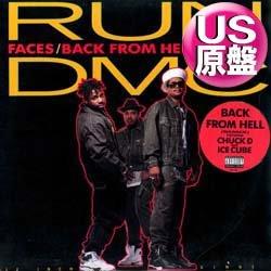 画像1: RUN DMC / BACK FROM HELL (米原盤/全2曲) [◎中古レア盤◎ステッカー付原盤!ド派手ミドル!]