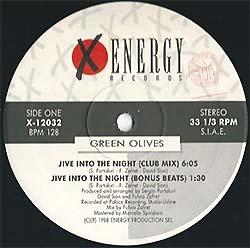 画像2: GREEN OLIVES / JIVE INTO THE NIGHT (伊原盤/4VER) [◎中古レア盤◎激レア!別ジャケのイタリア版!ウィンク原曲!]