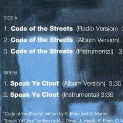 画像2: GANG STARR / CODE OF THE STREETS (米原盤/全2曲) [◎中古レア盤◎激レア!コレは正真正銘の原盤!ブッダ新曲ネタ!]