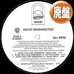 """画像1: KEITH WASHINGTON / WHEN YOU LOVE SOMEBODY (12""""MIX/6VER) [■廃盤■お宝!少量生産!屈指の大人R&B!]"""