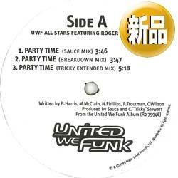 画像1: UWF & ROGER / パーティータイム (米原盤/REMIX) [■廃盤■なんと新品!ブルーノ・マーズ「UPTOWN FUNK」と相性◎!ZAPPファン悶絶!]