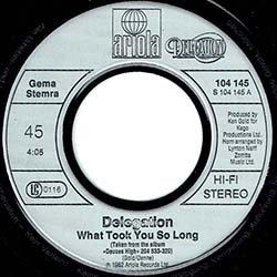 画像3: DELEGATION / WHAT TOOK YOU SO LONG (7インチ) [◎中古レア盤◎滅多に無い新品盤!別ジャケドイツ版!豪華2曲!]