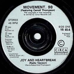 """画像4: MOVEMENT98 / JOY & HEARTBREAK (7インチMIX) [◎中古レア盤◎奇跡の超美品!極上「ジムノペディ」使い!7""""MIX!]"""