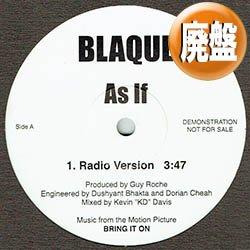 画像1: BLAQUE / AS IF (3VER) [■廃盤■日本のみ!貴重な1面使い版!インスト入り!]