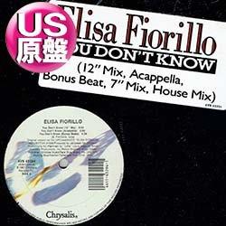 画像1: ELISA FIORILLO / YOU DON'T KNOW (米原盤/ロングMIX) [◎中古レア盤◎貴重な美品!初回ステッカー付原盤!]