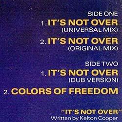 画像2: HUNTER HAYES / IT'S NOT OVER (米原盤/ロングMIX) [◎中古レア盤◎コレは原盤!USのみ!ガラージ古典!]