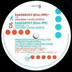 """画像4: LOOSE ENDS / EMERGENCY DIAL 999 (7インチMIX) [◎中古レア盤◎激レア!7""""は英国版のみ!80's最高峰!]"""