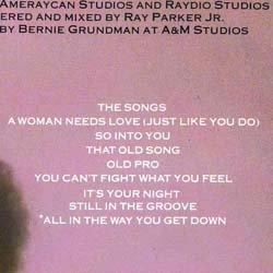 画像2: RAY PARKER JR. / A WOMAN NEEDS LOVE (LP原盤/全8曲) [◎中古レア盤◎お宝!美品盤!MUROネタ!]