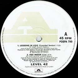 画像2: LEVEL 42 / SOMETHING ABOUT YOU & LESSONS IN LOVE (英原盤/全3曲) [◎中古レア盤◎貴重!欧州のみとなる特別内容3曲集!]