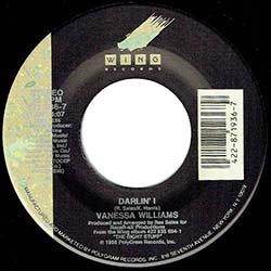 """画像4: VANESSA WILLIAMS / DARLIN' I (7インチ) [◎中古レア盤◎貴重な美品!US版ジャケ7""""!極上ラブ・バラード!]"""