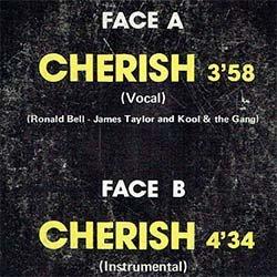 """画像2: KOOL & THE GANG / CHERISH (7インチMIX) [◎中古レア盤◎貴重!フランス版ジャケ7""""MIX + SAXインスト!]"""