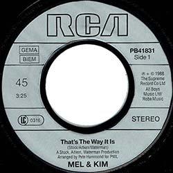 """画像4: MEL & KIM / THAT'S THE WAY IT IS (7インチ) [◎中古レア盤◎お宝!西ドイツ版ジャケ7""""!目玉はB面の未発表曲入り!]"""