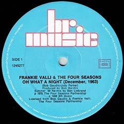 """画像2: THE FOUR SEASONS / OH, WHAT A NIGHT (仏原盤/88年MIX) [◎中古レア盤◎貴重!必殺""""88年MIX""""!フランス版ジャケ!]"""
