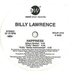 画像2: BILLY LAWRENCE / HAPPINESS (非売品MIX/6VER) [◎中古レア盤◎お宝!レアREMIX音源!音質抜群!]