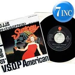 画像1: DISCO J.J.S / ラヴ・イズ V.S.O.P アメリカン (7インチ) [◎中古レア盤◎お宝!日本版のみのアナログ盤!哀愁CM曲!]