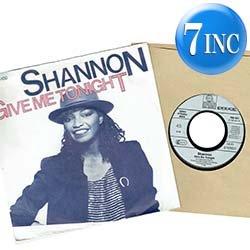 """画像1: SHANNON / GIVE ME TONIGHT (7インチMIX) [◎中古レア盤◎お宝!西ドイツ版ジャケ!7""""MIX + インスト!]"""