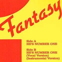 """画像2: FANTASY / HE'S NUMBER ONE (独原盤/12""""MIX) [◎中古レア盤◎激レア!ドイツ版ジャケ!女性ハイエナ最高峰!]"""