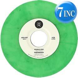 """画像1: GREENWOOD / SPARKLE (緑色7インチ) [■限定■お宝直行!グリーン7""""!山下達郎カバーが復刻!1985年 & 2014年版!MURO!]"""