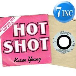 """画像1: KAREN YOUNG / HOT SHOT (7インチMIX) [◎中古レア盤◎お宝!フランス版ジャケ!7""""MIX + インスト!]"""