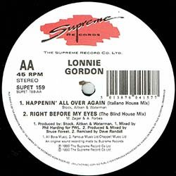 画像4: LONNIE GORDON / HAPPENIN' ALL OVER AGAIN (英原盤/全2曲) [◎中古レア盤◎激レア!超哀愁イタロ!貴重ジャケ!]