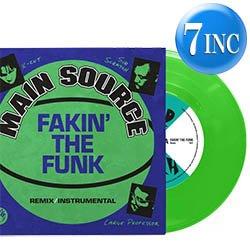 """画像1: MAIN SOURCE / FAKIN' THE FUNK (蛍光緑盤/7インチ) [■限定■初の正規7インチ!LIMITEDネオンカラー7""""!]"""