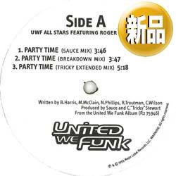 【ナスティーストリートレコード】uwf Amp Roger パーティータイム 米原盤 Remix 廃盤 なん
